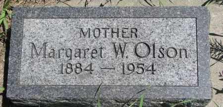 OLSON, MARGARET W. - Wayne County, Nebraska   MARGARET W. OLSON - Nebraska Gravestone Photos