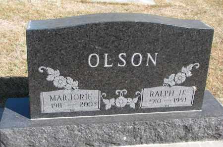 OLSON, RALPH HARVEY - Wayne County, Nebraska | RALPH HARVEY OLSON - Nebraska Gravestone Photos