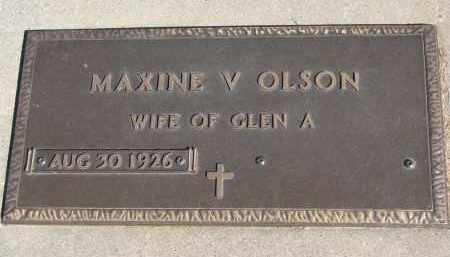 OLSON, MAXINE V. - Wayne County, Nebraska | MAXINE V. OLSON - Nebraska Gravestone Photos