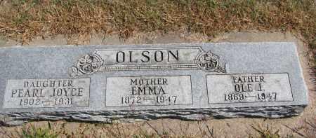 OLSON, EMMA - Wayne County, Nebraska | EMMA OLSON - Nebraska Gravestone Photos