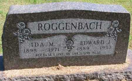 ROGGENBACH, EDWARD J. - Wayne County, Nebraska | EDWARD J. ROGGENBACH - Nebraska Gravestone Photos