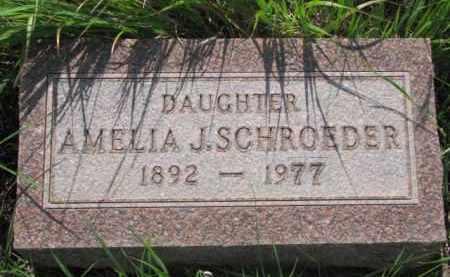 SCHROEDER, AMELIA J. - Wayne County, Nebraska | AMELIA J. SCHROEDER - Nebraska Gravestone Photos