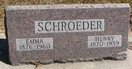 SCHROEDER, HENRY - Wayne County, Nebraska   HENRY SCHROEDER - Nebraska Gravestone Photos