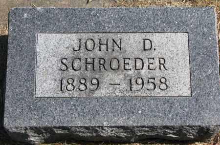 SCHROEDER, JOHN D. - Wayne County, Nebraska   JOHN D. SCHROEDER - Nebraska Gravestone Photos