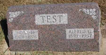 TEST, ALFRED G. - Wayne County, Nebraska   ALFRED G. TEST - Nebraska Gravestone Photos