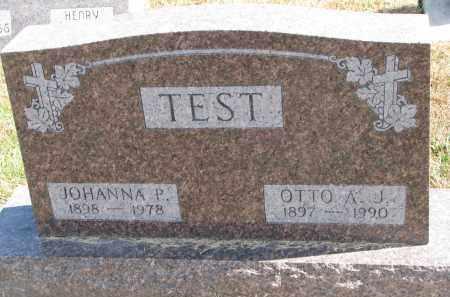 TEST, JOHANNA P. - Wayne County, Nebraska | JOHANNA P. TEST - Nebraska Gravestone Photos