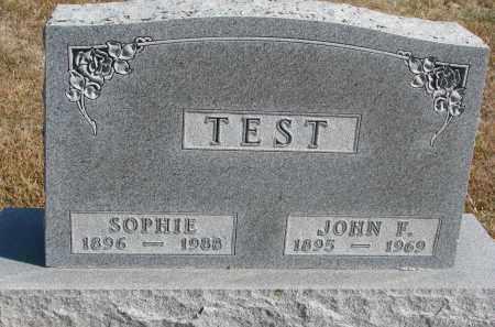 TEST, SOPHIE - Wayne County, Nebraska   SOPHIE TEST - Nebraska Gravestone Photos