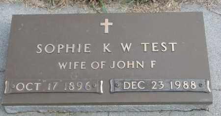 TEST, SOPHIE K.W. - Wayne County, Nebraska   SOPHIE K.W. TEST - Nebraska Gravestone Photos