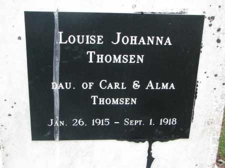 THOMSEN, LOUISE JOHANNA (NEW) - Wayne County, Nebraska | LOUISE JOHANNA (NEW) THOMSEN - Nebraska Gravestone Photos