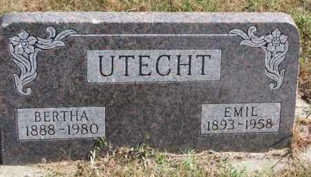 UTECHT, EMIL - Wayne County, Nebraska | EMIL UTECHT - Nebraska Gravestone Photos