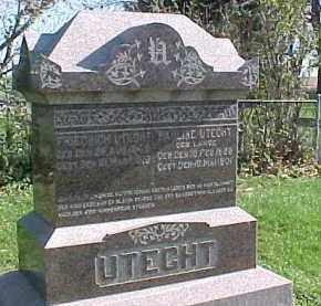 LANGE UTECHT, PAULINE - Wayne County, Nebraska   PAULINE LANGE UTECHT - Nebraska Gravestone Photos