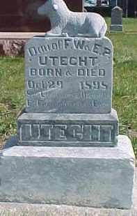 UTECHT, INFANT - Wayne County, Nebraska   INFANT UTECHT - Nebraska Gravestone Photos