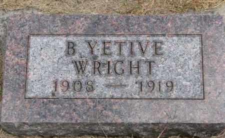 WRIGHT, BEVERLY YETIVE - Wayne County, Nebraska | BEVERLY YETIVE WRIGHT - Nebraska Gravestone Photos