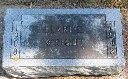 WRIGHT, CLARE E. - Wayne County, Nebraska   CLARE E. WRIGHT - Nebraska Gravestone Photos