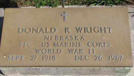 WRIGHT, DONALD R. - Wayne County, Nebraska | DONALD R. WRIGHT - Nebraska Gravestone Photos