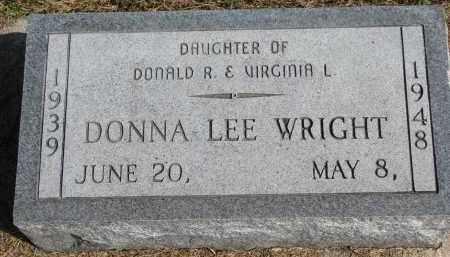 WRIGHT, DONNA LEE - Wayne County, Nebraska | DONNA LEE WRIGHT - Nebraska Gravestone Photos