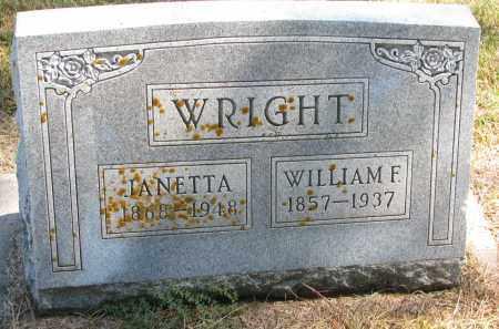 WRIGHT, JANETTA - Wayne County, Nebraska   JANETTA WRIGHT - Nebraska Gravestone Photos