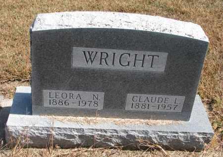 WRIGHT, CLAUDE L. - Wayne County, Nebraska | CLAUDE L. WRIGHT - Nebraska Gravestone Photos