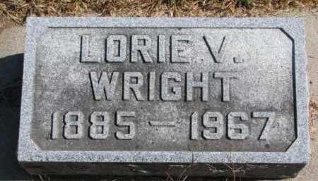 WRIGHT, LORIE VERN - Wayne County, Nebraska   LORIE VERN WRIGHT - Nebraska Gravestone Photos