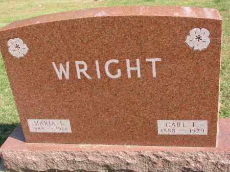 WRIGHT, CARL E. - Wayne County, Nebraska | CARL E. WRIGHT - Nebraska Gravestone Photos