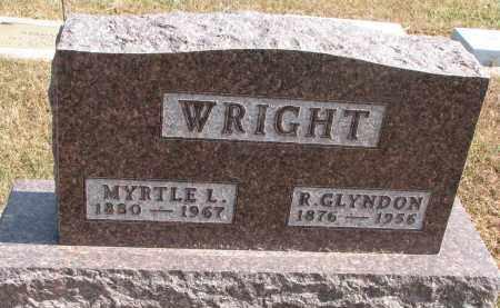 WRIGHT, ROBERT GLYNDON - Wayne County, Nebraska | ROBERT GLYNDON WRIGHT - Nebraska Gravestone Photos