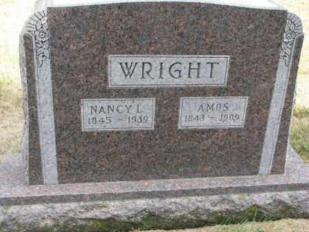 WRIGHT, AMOS - Wayne County, Nebraska | AMOS WRIGHT - Nebraska Gravestone Photos