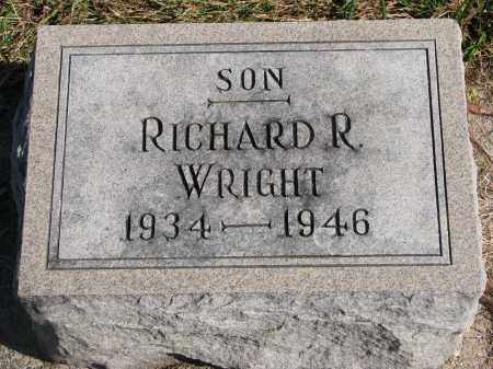 WRIGHT, RICHARD R. - Wayne County, Nebraska | RICHARD R. WRIGHT - Nebraska Gravestone Photos