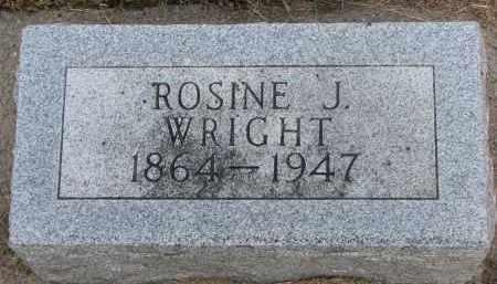 WRIGHT, ROSINE J. - Wayne County, Nebraska | ROSINE J. WRIGHT - Nebraska Gravestone Photos