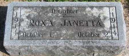 WRIGHT, ROXA JANETTA - Wayne County, Nebraska | ROXA JANETTA WRIGHT - Nebraska Gravestone Photos