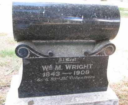 WRIGHT, WILLIAM M. - Wayne County, Nebraska | WILLIAM M. WRIGHT - Nebraska Gravestone Photos