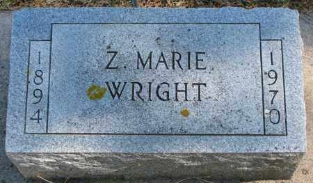 WRIGHT, Z. MARIE - Wayne County, Nebraska | Z. MARIE WRIGHT - Nebraska Gravestone Photos