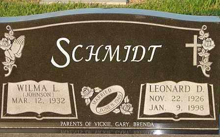 SCHMIDT, LEONARD - Webster County, Nebraska | LEONARD SCHMIDT - Nebraska Gravestone Photos
