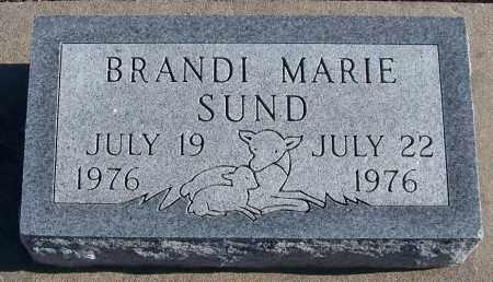 SUND, BRANDI - Webster County, Nebraska | BRANDI SUND - Nebraska Gravestone Photos