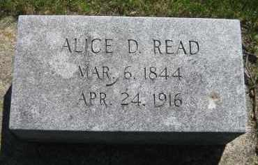 READ, ALICE DIXIE - York County, Nebraska | ALICE DIXIE READ - Nebraska Gravestone Photos
