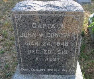 CONOVER, JOHN W, - Atlantic County, New Jersey | JOHN W, CONOVER - New Jersey Gravestone Photos