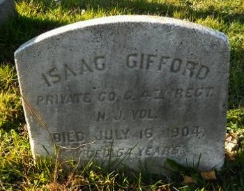 GIFFORD, ISAAC - Atlantic County, New Jersey | ISAAC GIFFORD - New Jersey Gravestone Photos