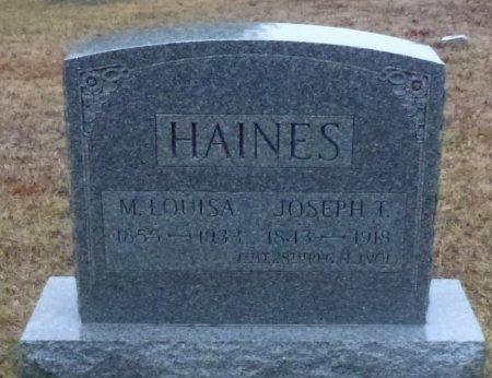 HAINES, JOSEPH T. - Atlantic County, New Jersey | JOSEPH T. HAINES - New Jersey Gravestone Photos