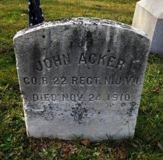 ACKER, JOHN - Bergen County, New Jersey   JOHN ACKER - New Jersey Gravestone Photos