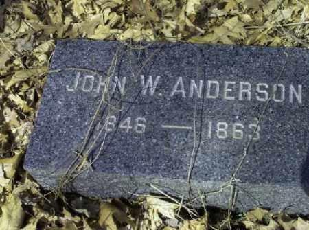 ANDERSON, JOHN W. - Bergen County, New Jersey | JOHN W. ANDERSON - New Jersey Gravestone Photos