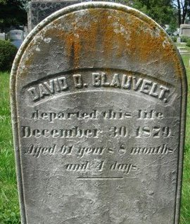 BLAUVELT, DAVID D. - Bergen County, New Jersey   DAVID D. BLAUVELT - New Jersey Gravestone Photos