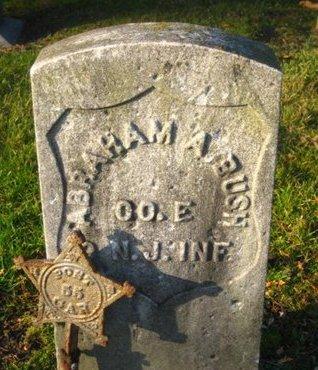 BUSH, ABRAHAM A. - Bergen County, New Jersey | ABRAHAM A. BUSH - New Jersey Gravestone Photos