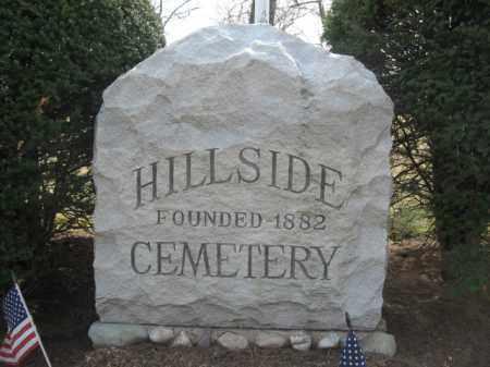 CEMETERY SIGN, HILLSIDE - Bergen County, New Jersey   HILLSIDE CEMETERY SIGN - New Jersey Gravestone Photos