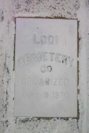 CEMETERY SIGN, LODI - Bergen County, New Jersey | LODI CEMETERY SIGN - New Jersey Gravestone Photos
