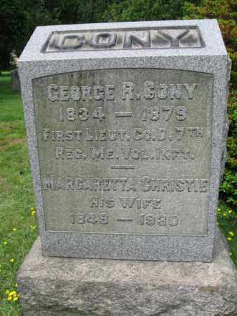 CONY, GEORGE R. - Bergen County, New Jersey | GEORGE R. CONY - New Jersey Gravestone Photos