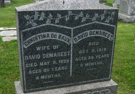 DEMAREST, DAVID - Bergen County, New Jersey | DAVID DEMAREST - New Jersey Gravestone Photos