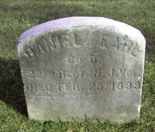 EARL, DANIEL - Bergen County, New Jersey | DANIEL EARL - New Jersey Gravestone Photos