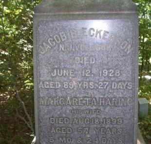 ECKERSON, JACOB B. - Bergen County, New Jersey | JACOB B. ECKERSON - New Jersey Gravestone Photos
