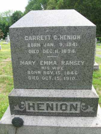 HENION, GARRETT G. - Bergen County, New Jersey | GARRETT G. HENION - New Jersey Gravestone Photos