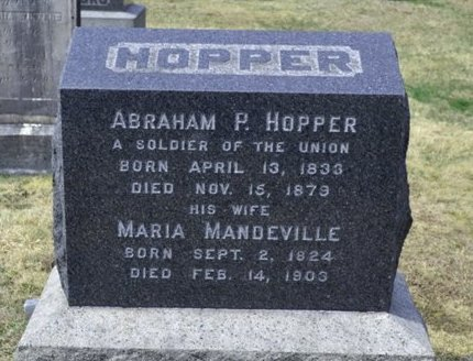 HOPPER, ABRAHAM P. - Bergen County, New Jersey | ABRAHAM P. HOPPER - New Jersey Gravestone Photos