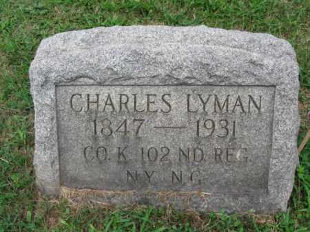LYMAN, CHARLES - Bergen County, New Jersey | CHARLES LYMAN - New Jersey Gravestone Photos